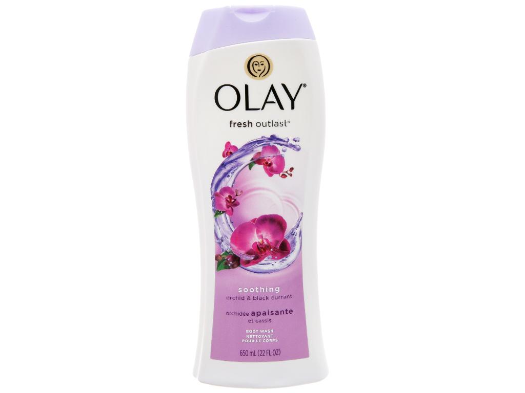 Sữa tắm Olay dưỡng ẩm hương hoa lan và quả lý chua lê 650ml 1