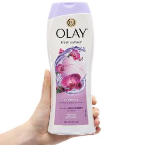 Sữa tắm Olay Fresh Outlast hương hoa lan và quả lý chua lê 650ml