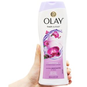 Sữa tắm Olay dưỡng ẩm hương hoa lan và quả lý chua lê 650ml