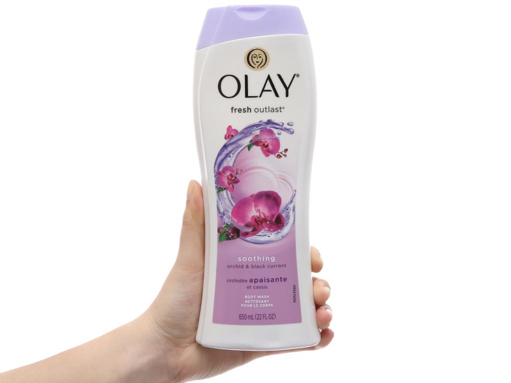 Sữa tắm Olay Fresh Outlast hương hoa lan và quả lý chua lê 650ml 4