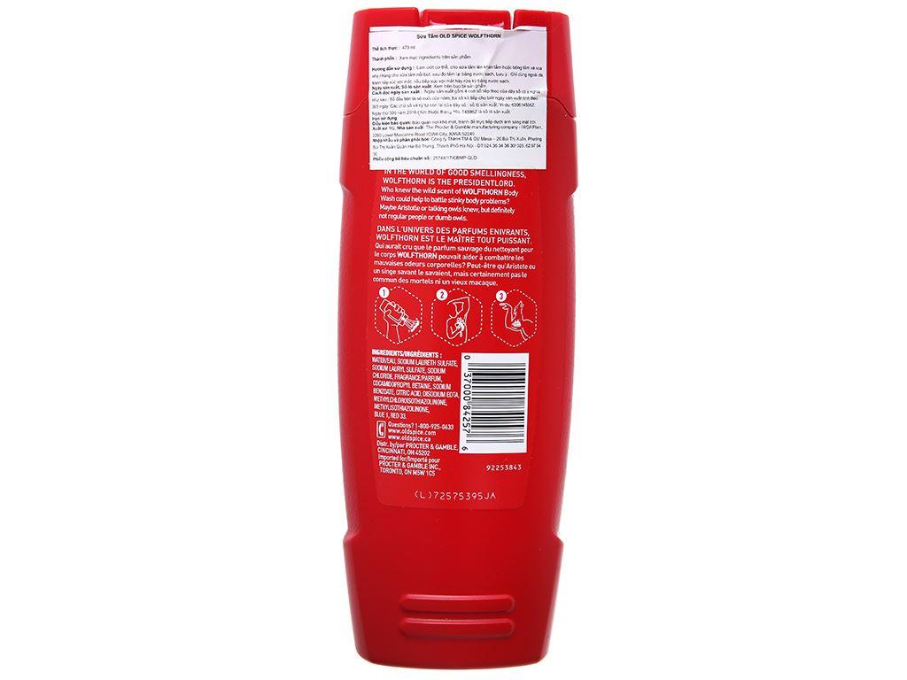 Sữa tắm Old Spice Wolfthorn 473ml 3