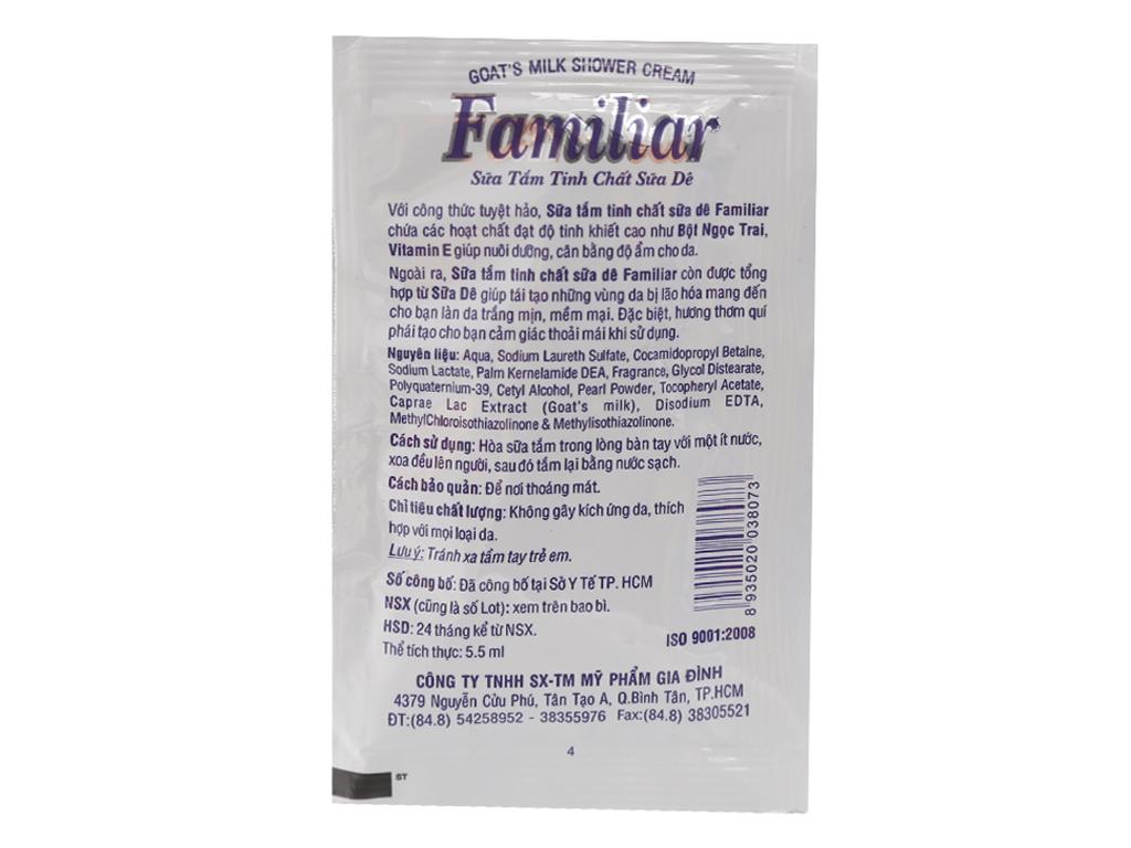 Sữa tắm Familiar 10 gói 2