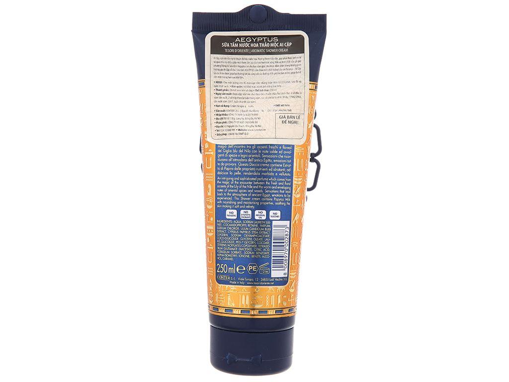 Sữa tắm nước hoa thảo mộc ai cập Tesori 250ml 3