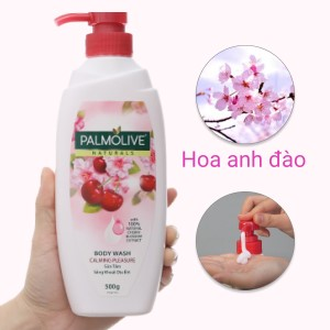 Sữa tắm sảng khoái dịu êm Palmolive chiết xuất hoa anh đào và sữa 500g
