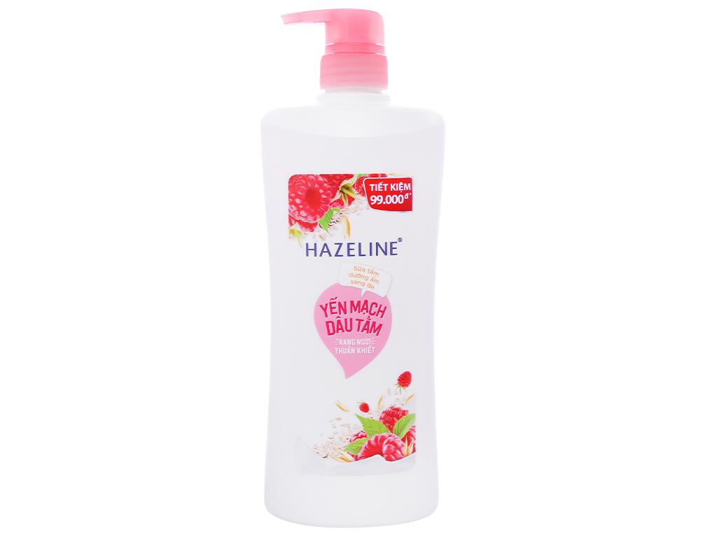 Sữa tắm dưỡng ẩm sáng da Hazeline yến mạch dâu tằm 896ml 1