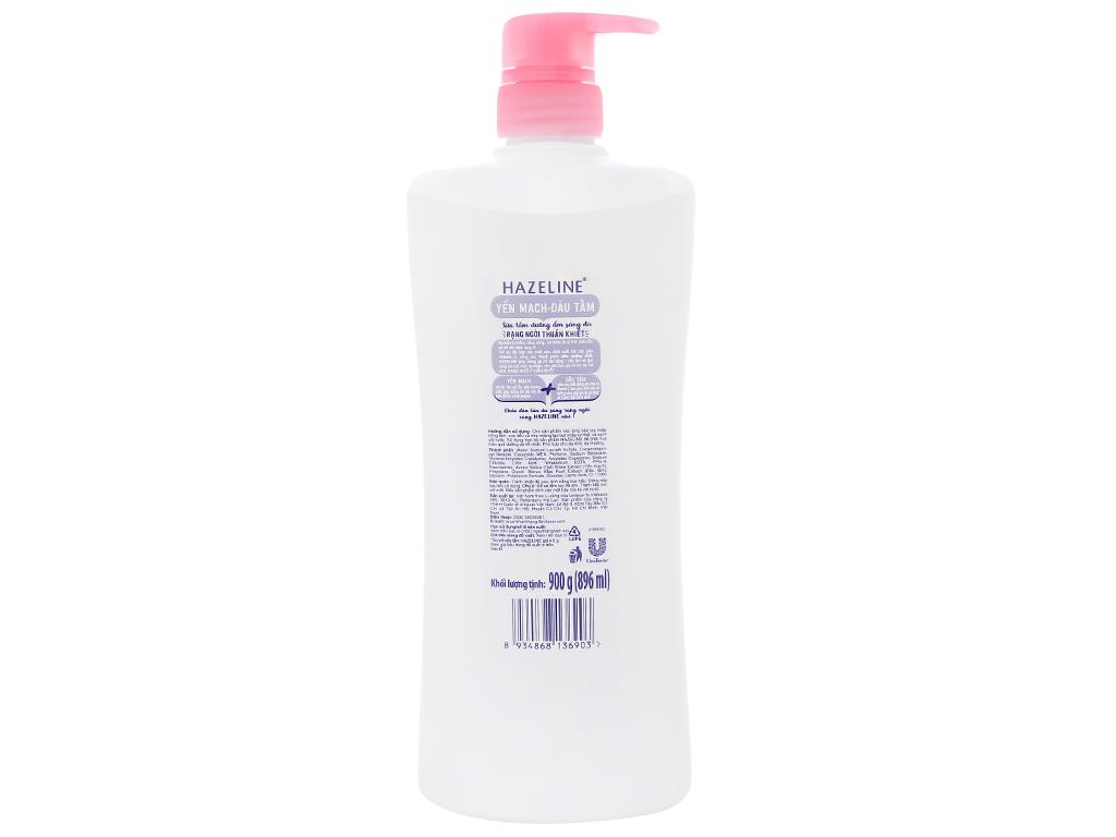 Sữa tắm dưỡng ẩm sáng da Hazeline yến mạch dâu tằm 896ml 2