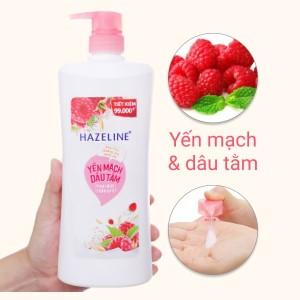 Sữa tắm dưỡng ẩm sáng da Hazeline yến mạch dâu tằm 896ml