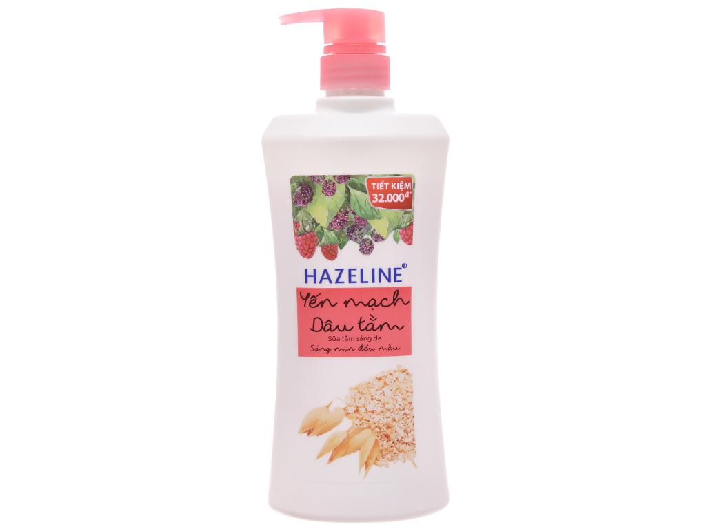 Sữa tắm sáng da Hazeline yến mạch dâu tằm 667ml 1