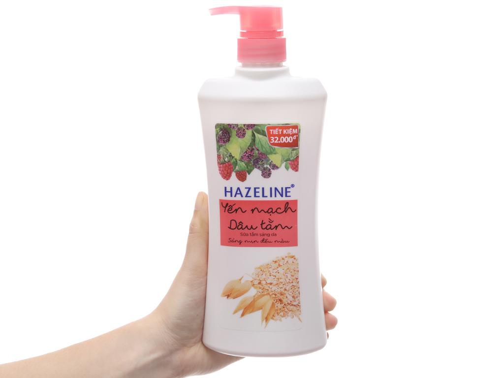 Sữa tắm sáng da Hazeline yến mạch dâu tằm 667ml 3