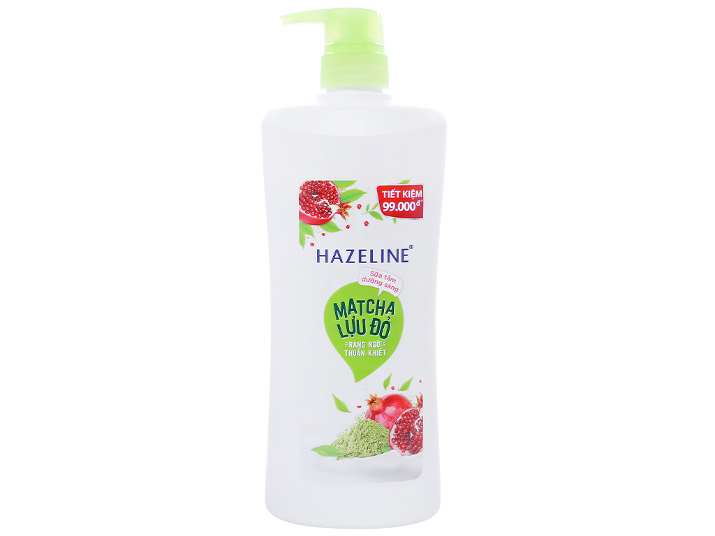 Sữa tắm dưỡng sáng Hazeline matcha lựu đỏ 896ml 1