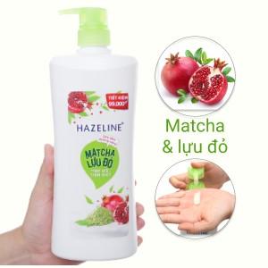 Sữa tắm dưỡng sáng Hazeline matcha lựu đỏ 896ml