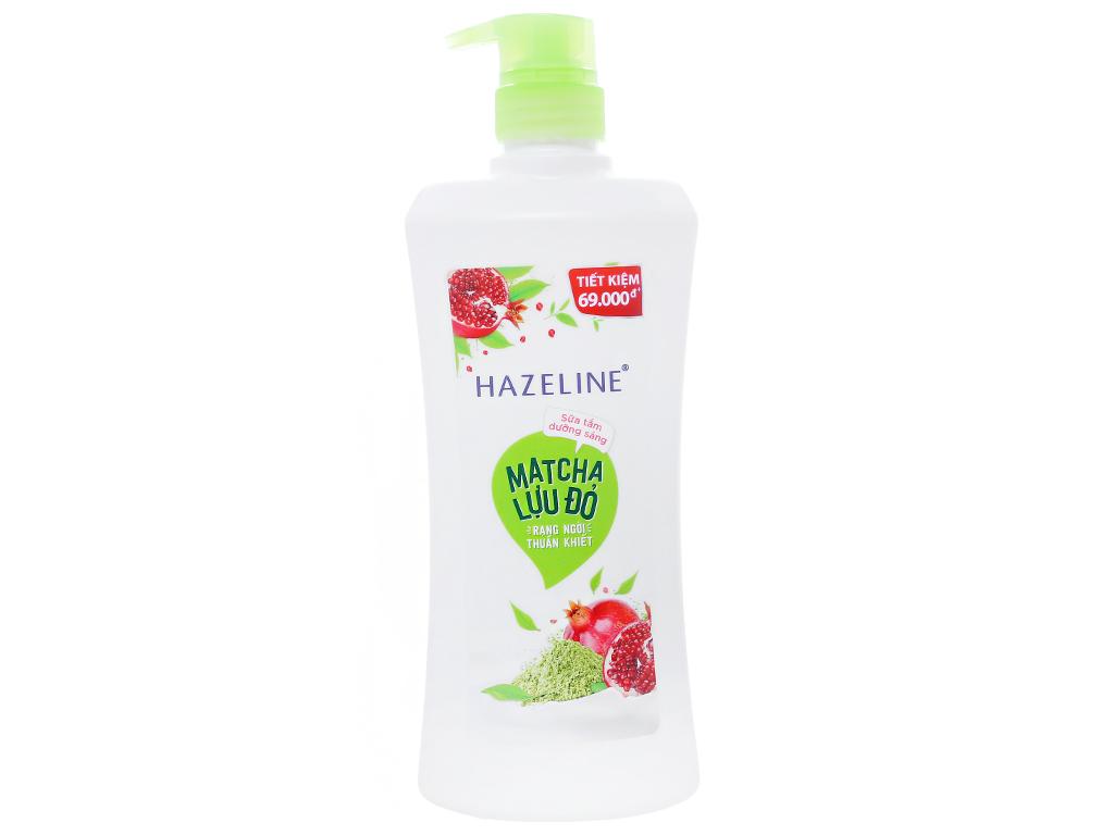 Sữa tắm dưỡng sáng Hazeline matcha lựu đỏ 667ml 1