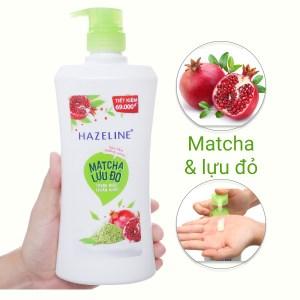 Sữa tắm dưỡng sáng Hazeline matcha lựu đỏ 667ml