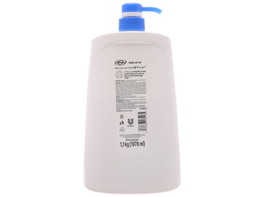 Sữa tắm bảo vệ khỏi vi khuẩn Lifebuoy chăm sóc da 1.078 lít 3