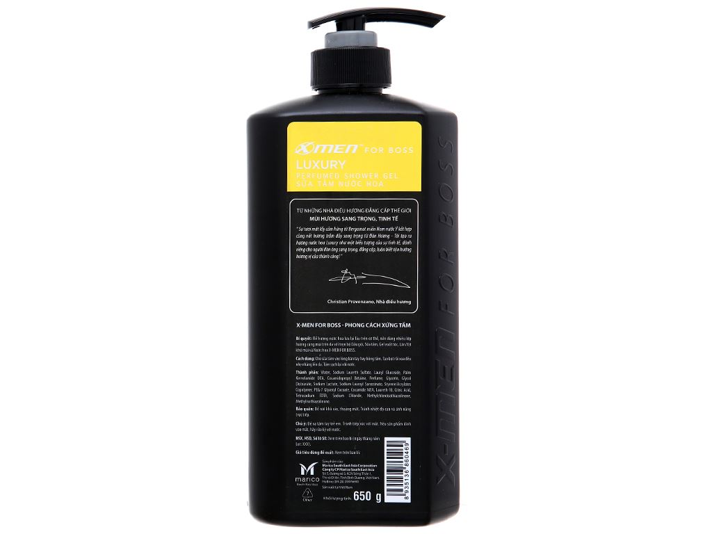 Sữa tắm nước hoa X-Men For Boss Luxury 650g 2