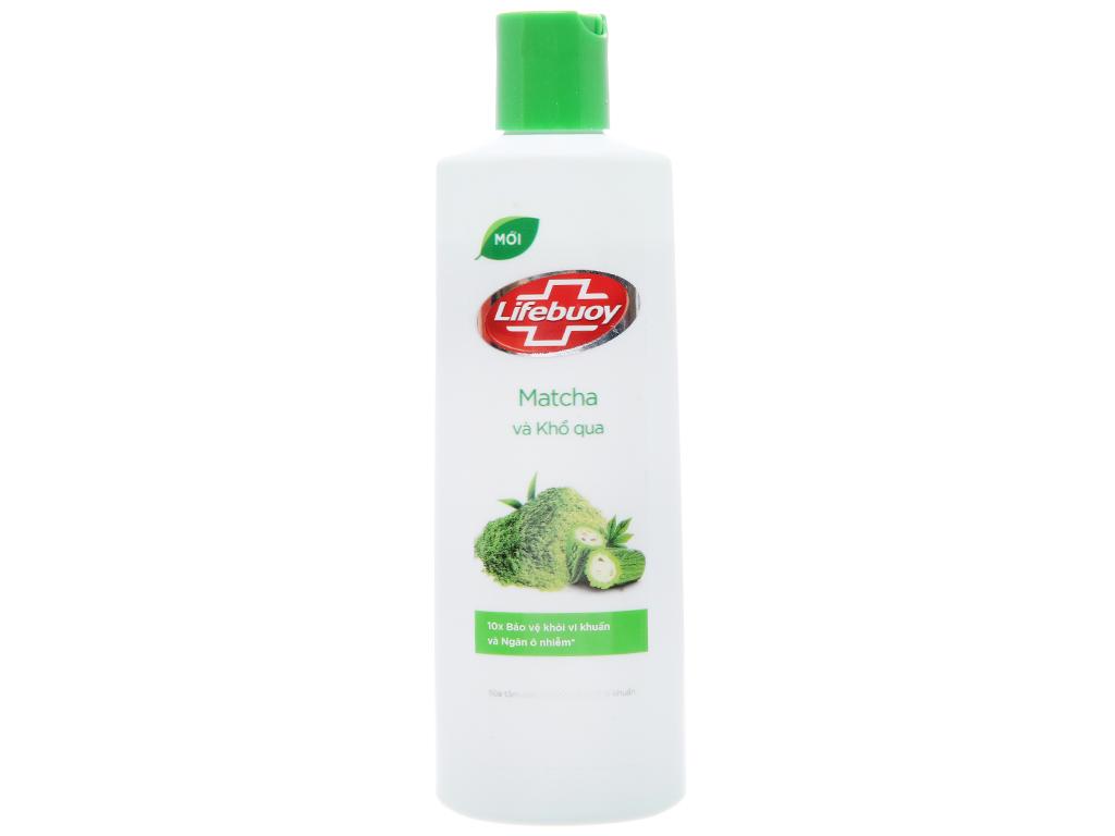 Sữa tắm detox bảo vệ khỏi vi khuẩn Lifebuoy Matcha và khổ qua 245ml 1