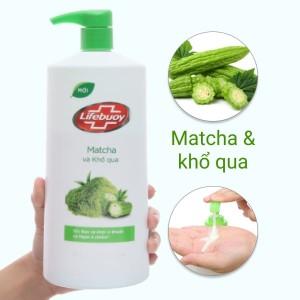 Sữa tắm detox bảo vệ khỏi vi khuẩn Lifebuoy matcha và khổ qua 831ml
