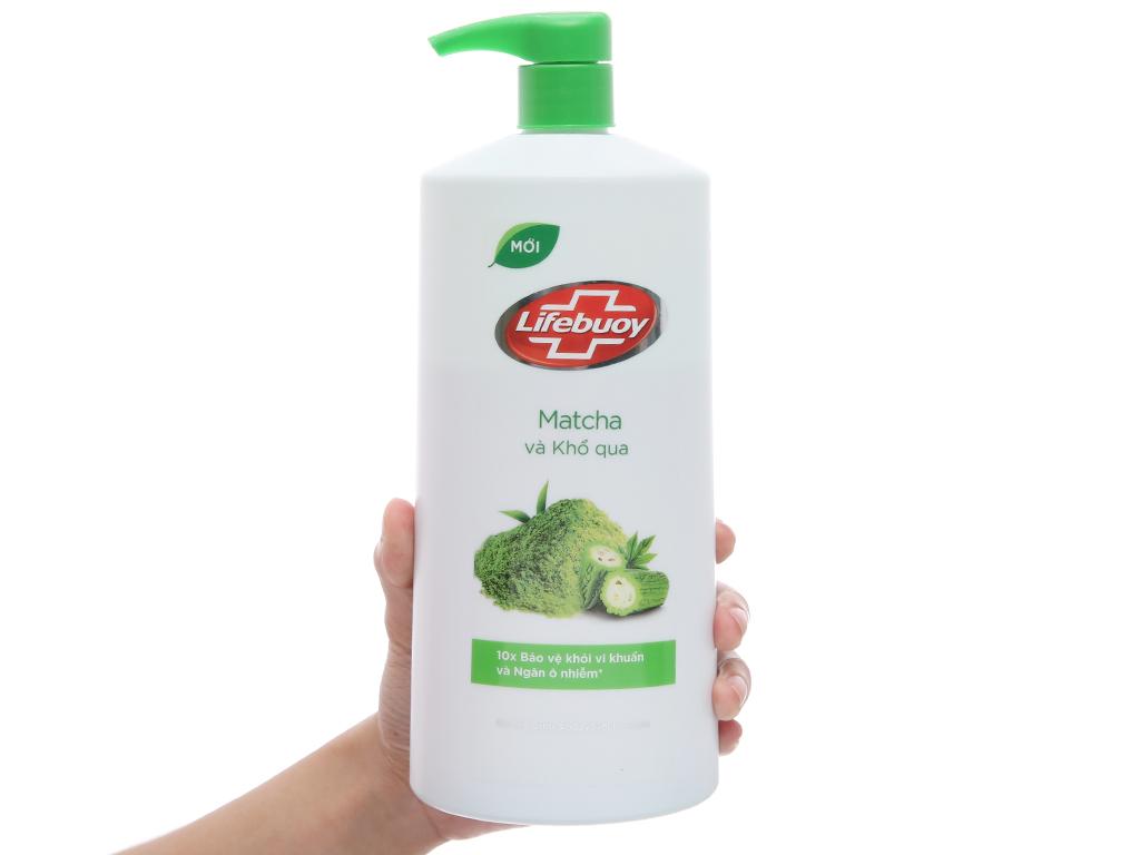 Sữa tắm detox bảo vệ khỏi vi khuẩn Lifebuoy Matcha và khổ qua 831ml 4