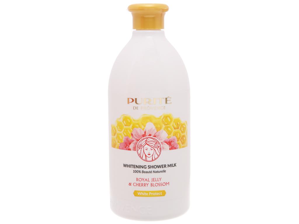 Sữa tắm dưỡng trắng Purité sữa ong chúa và hoa anh đào 500ml 2