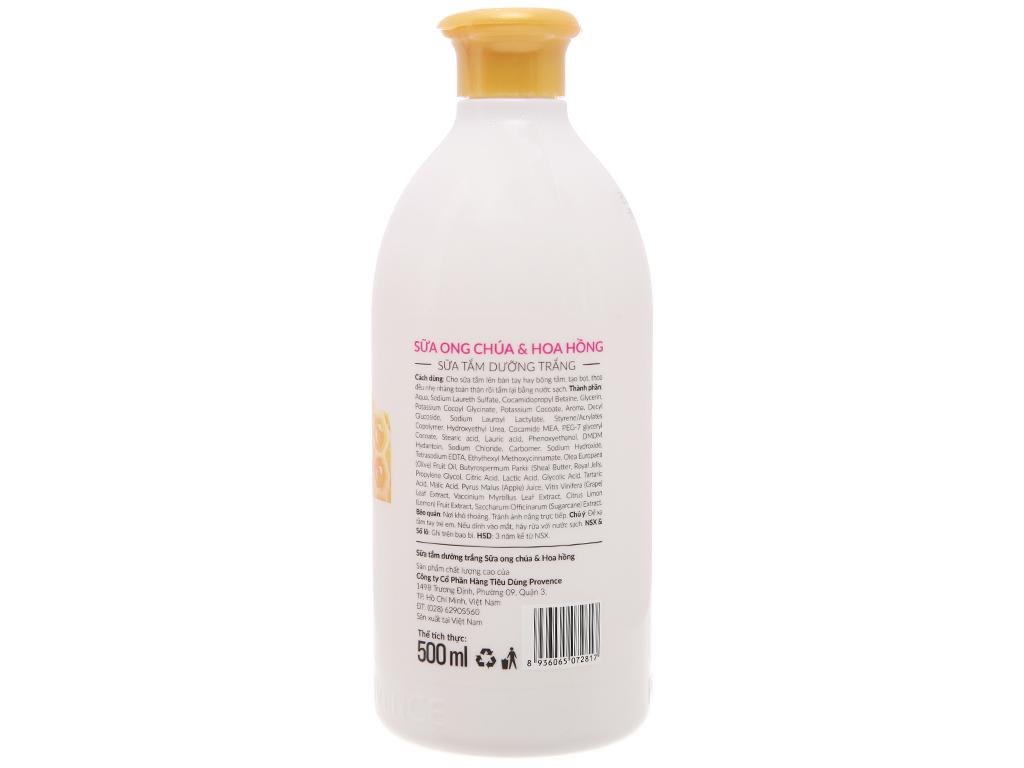 Sữa tắm dưỡng trắng Purité sữa ong chúa và hoa hồng 500ml 3