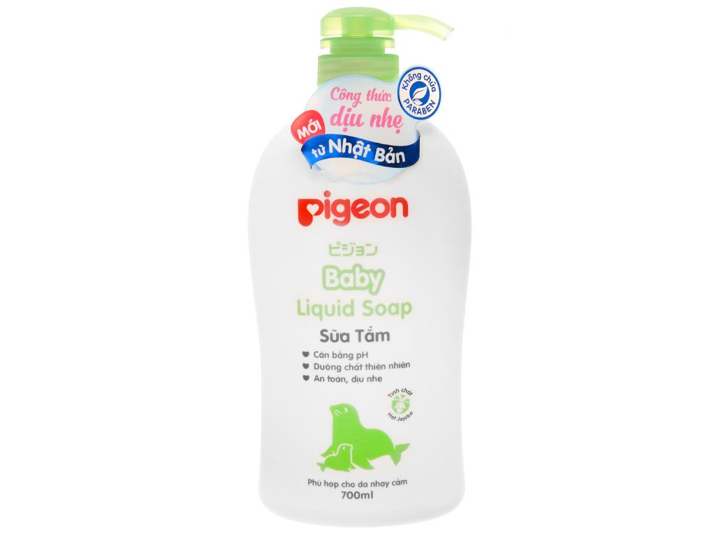 Sữa tắm cho bé Pigeon liquid soap 700ml 2