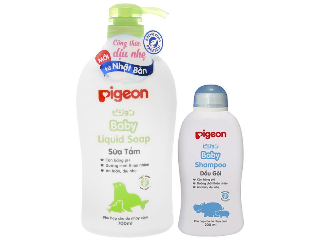 Sữa tắm cho bé Pigeon liquid soap 700ml 1