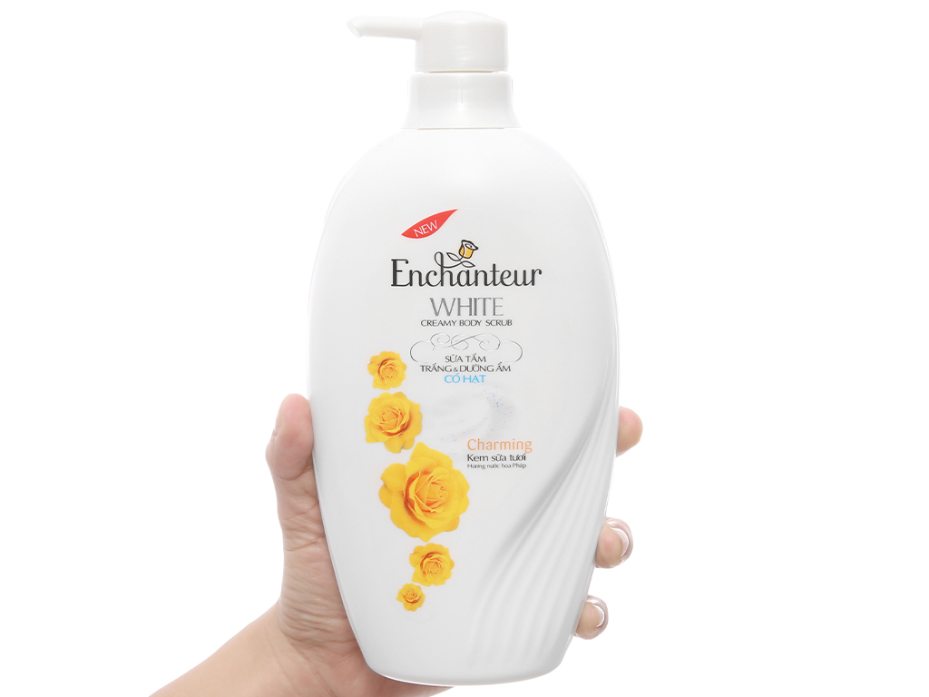 Sữa tắm trắng và dưỡng ẩm Enchanteur White Charming 450g 3