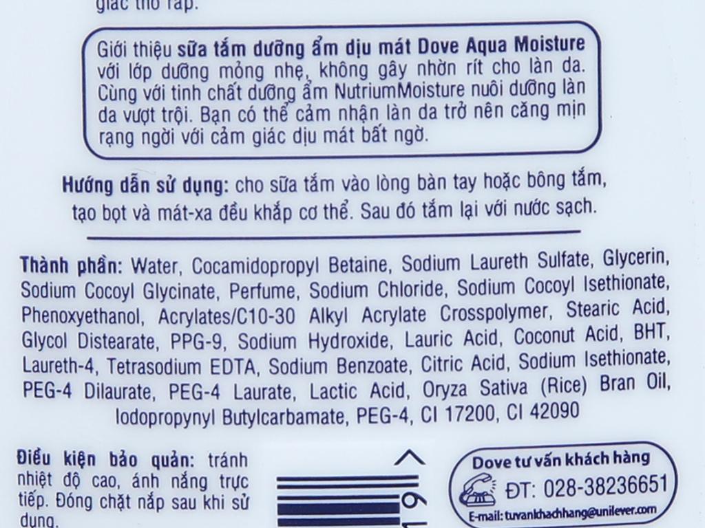 Sữa tắm Dove Dưỡng ẩm dịu mát 180g 2