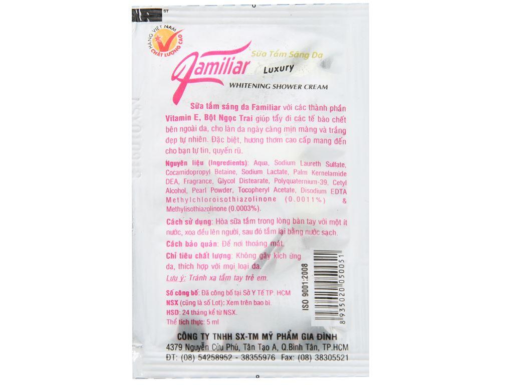 Sữa tắm dưỡng da Familiar 5g x 12 gói 3