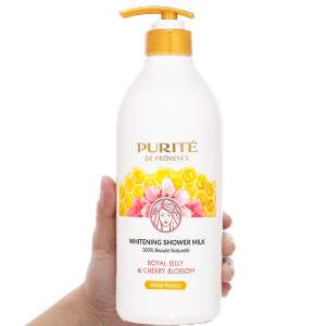 Sữa tắm dưỡng trắng Purité sữa ong chúa và hoa anh đào 850ml