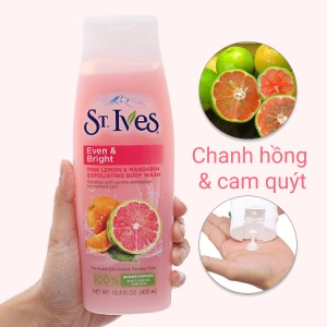Sữa tắm ST.IVES Even & Bright cam chanh 400ml