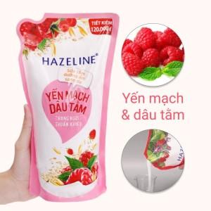 Sữa tắm dưỡng ẩm sáng da Hazeline yến mạch dâu tằm bịch 1kg