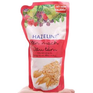Sữa tắm dưỡng sáng Hazeline yến mạch dâu tằm bịch 1kg