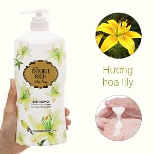 Sữa tắm Double Rich White Purity hương Lily xanh 800g