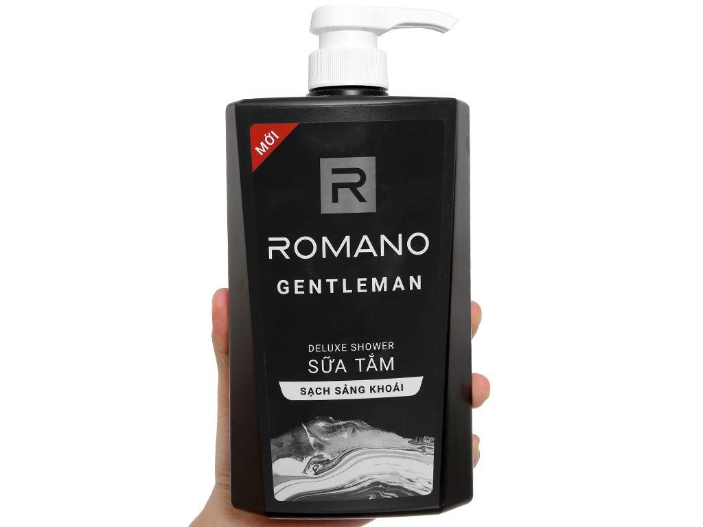 Sữa tắm nước hoa Romano Gentleman sạch sảng khoái 650g 4