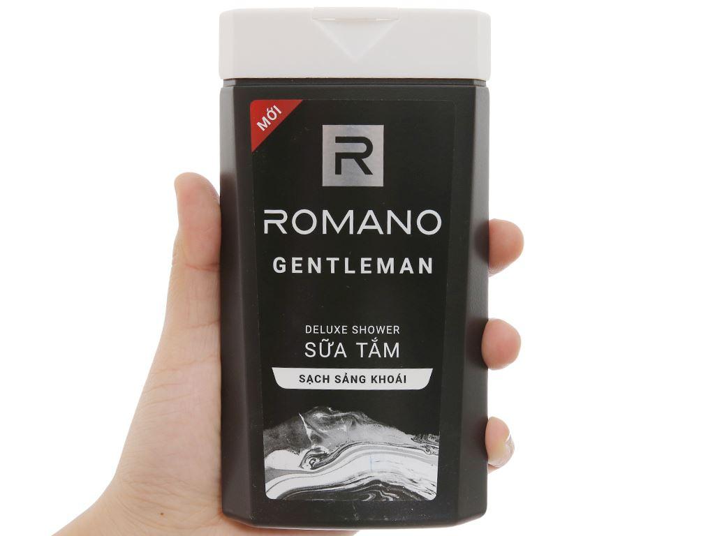 Sữa tắm nước hoa Romano Gentleman sạch sảng khoái 180g 3