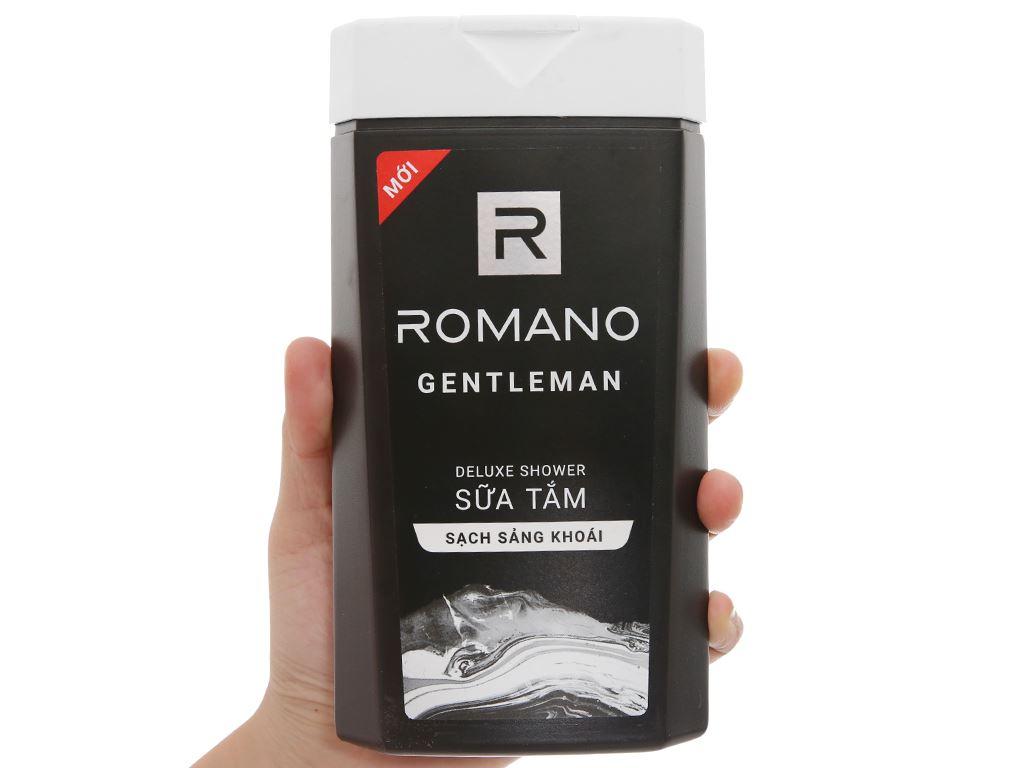Sữa tắm nước hoa Romano Gentleman sạch sảng khoái 380g 4