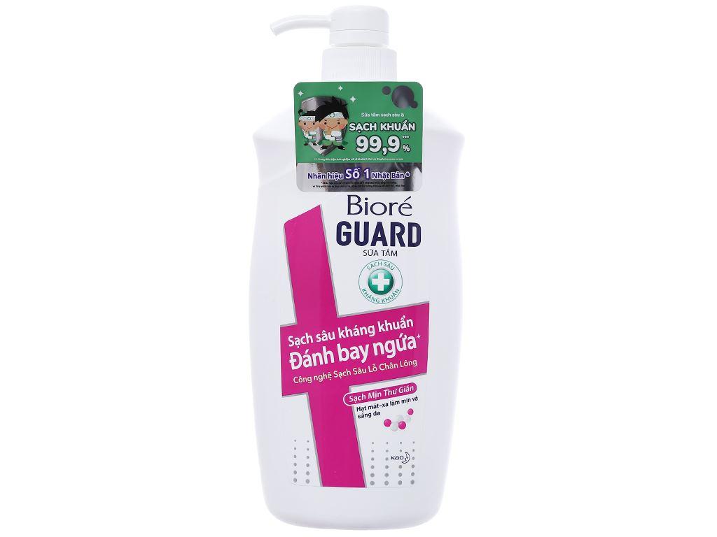 Sữa tắm sạch sâu kháng khuẩn Bioré sạch mịn thư giãn 800g 1