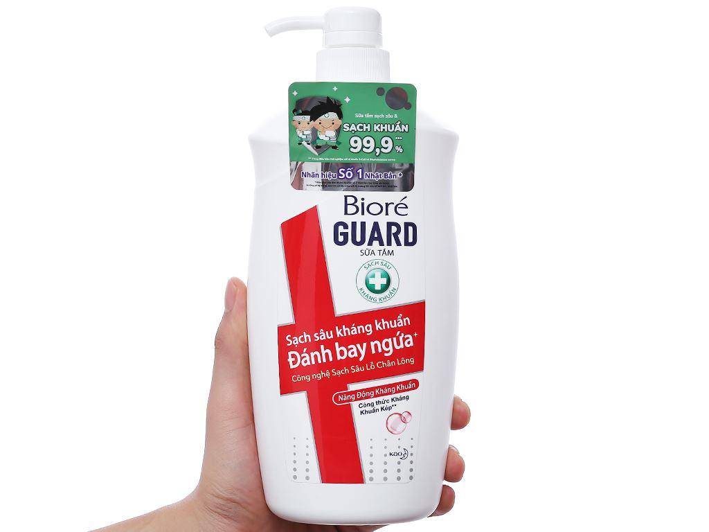 Sữa tắm sạch sâu kháng khuẩn Bioré Guard năng động kháng khuẩn 800g 3