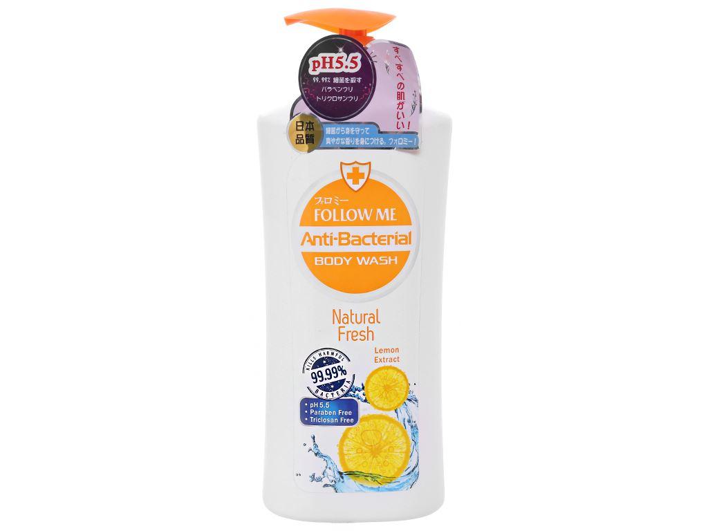 Sữa tắm Follow Me Natural Fresh dưỡng ẩm ngăn ngừa lão hoá 1 lít 1