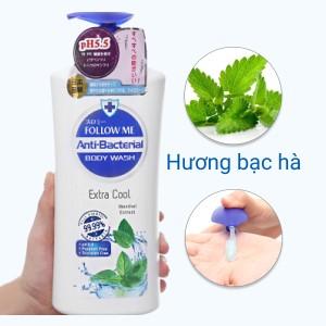 Sữa tắm Follow Me Extra Cool dưỡng ẩm mát lạnh 1 lít