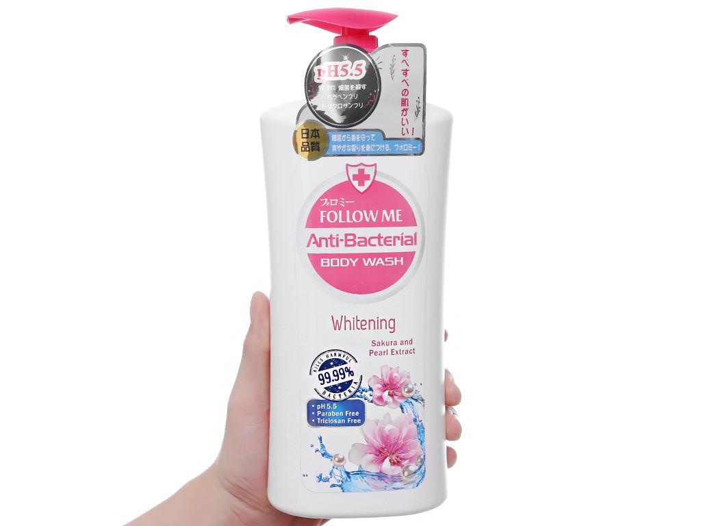 Sữa tắm Follow Me Whitening dưỡng ẩm sáng da 1 lít 3