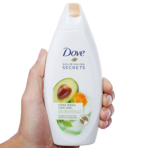Sữa tắm dưỡng thể Dove dầu trái mơ và hoa cúc 179ml