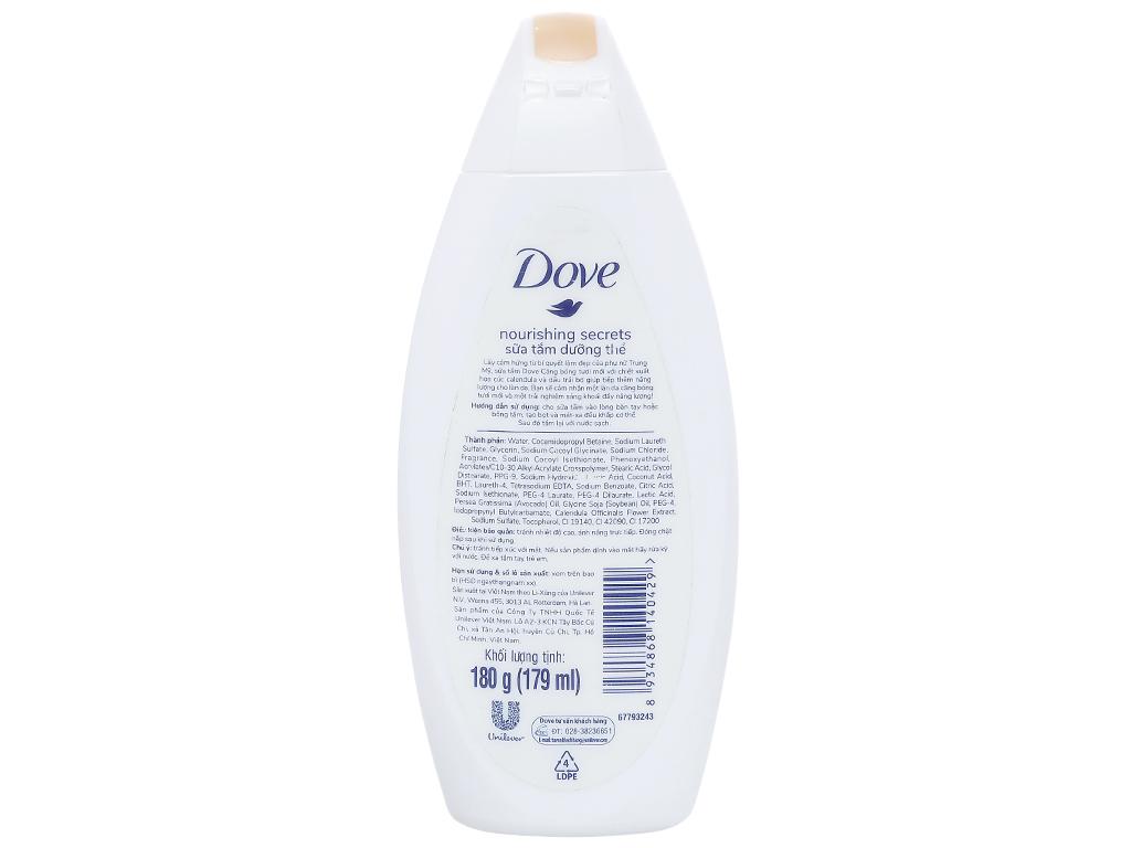 Sữa tắm dưỡng thể Dove dầu trái mơ và hoa cúc 179ml 2