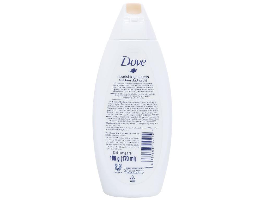 Sữa tắm dưỡng thể Dove tinh chất hương thảo và oải hương 179ml 2
