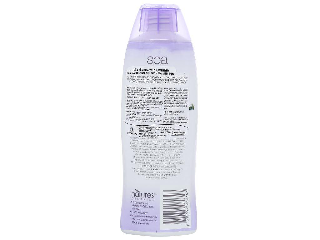 Sữa tắm Spa Wild Lavender thư giãn mềm mịn 400ml 2
