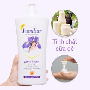 Sữa tắm tinh chất sữa dê Familiar hương Pansy's Love 1.2 lít