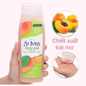Sữa tắm ST.IVES Fresh Skin hương mơ 400ml