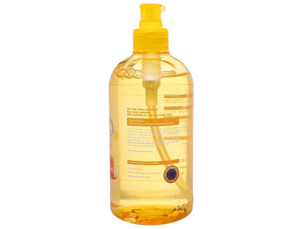 Gel tắm dưỡng ẩm Fresh Organic mật ong Manuka 500g 2
