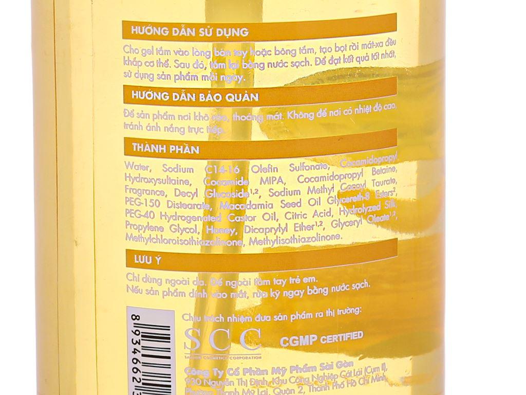Gel tắm dưỡng ẩm Fresh Organic mật ong Manuka 500g 4